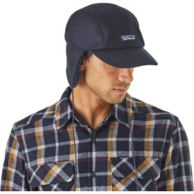 Patagonia Recycled Wool Ear Flap Cap Classic Navy